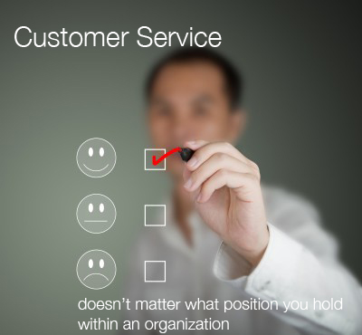 customer service, all roles, positions in the organization